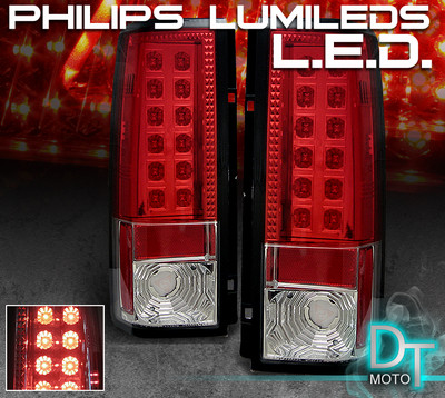 Astro Van Safari Red Clear Led Tail Brake Lights Lamps
