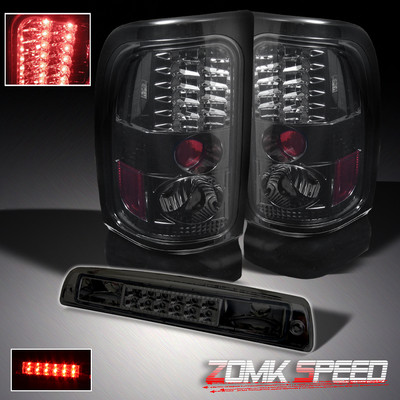 Dodge Ram Pickup Led Tail Lights Lamps Leftrightled Brake Smoked