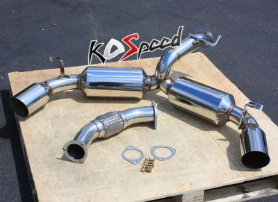 Stainless Steel 4.5″ Tip Dual Muffler Catback Exhaust System
