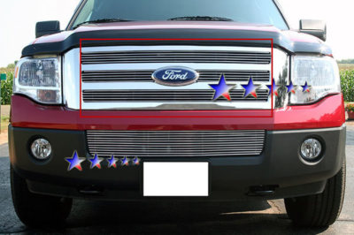 Billet Grille Insert 2007-10 Ford Expedition Upper Aluminum Billet Grille