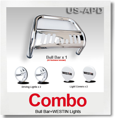 Combo Nissan Pathfinder Bull Bar S/SWestin Light