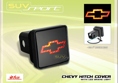 Bully Chevy Logo Hitch Cover With Led Brake Light Colorado