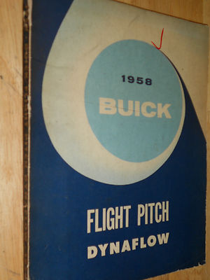 1958 Buick Dynaflow Transmission Shop Manual / Nice Original Book