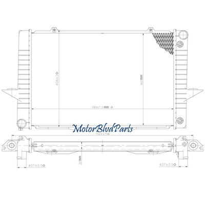 9397 Volvo 850 Turbo L5 2.3l 2.4l Manual Transmission Oem Style Radiator