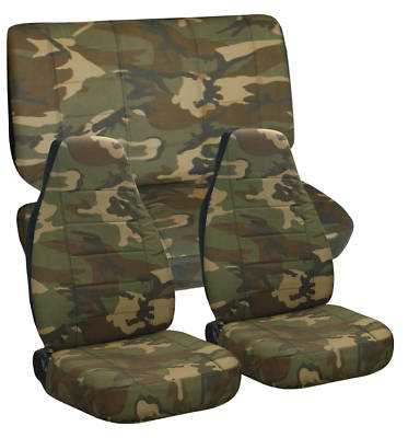JEEP CHEROKEE CAR SEAT COVERS CAMO BROWN GREEN #31