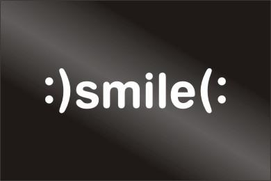 Smile Funny Vinyl Car Bumper Stickers Decals Emblem 251