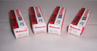 Motorcraft AF501 spark plugs 4  old stock IMSA SCCA