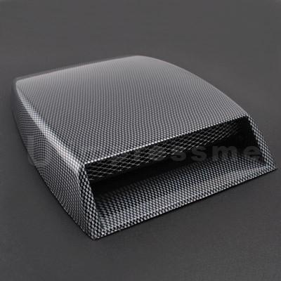 Turbo Hood Racing Style Air Scoop Flow Vent Carbon Look