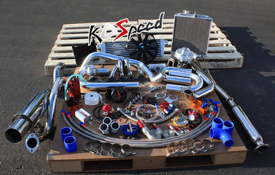 Stage II Turbo Kit 9397 Honda Del Sol Vtec Bseries T3 Turbocharger Radiator