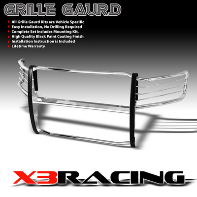 Sierra 2500/3500 Stainless Head Light/Bumper/Grille Brush Guard Push Bar