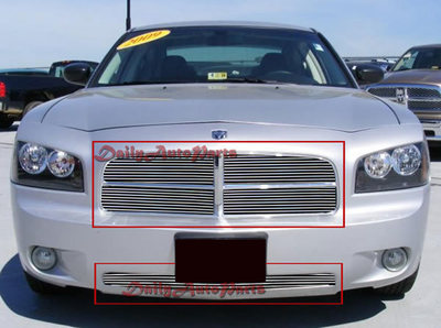 Dodge Charger Front Grill Aluminum Billet Grille Combo