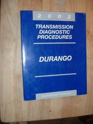 2002 Dodge Durango Transmission Diagnostic Procedures Manual