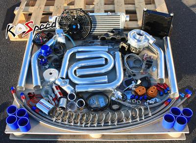 Honda K20 Ep3 Dc5 T3 Stage 2 T04e Turbocharger Turbo Kit Upgrade Diy Fmic Piping