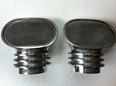 Stromberg Holley Big Frog Mouth Old School Air Scoops, Rat Rod 2×2 Air Filters