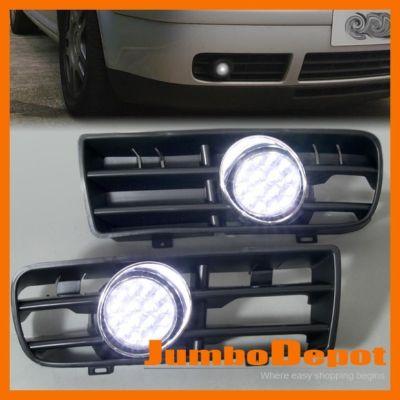 Headlight Bumper Grille Led Fog Light Lamp Grill For 9904 Vw Golf Mk4 Warranty