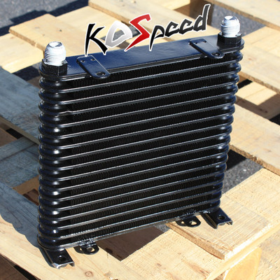 Universal 17 Row 42mm 42 Mm 10an Black Aluminum Engine/Transmis?Sion Oil Cooler