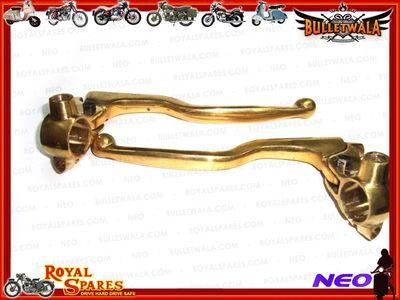 Rare Royal Enfield Brand Brass Clutch Brake Lever Assembly 7/8″ Handlebar