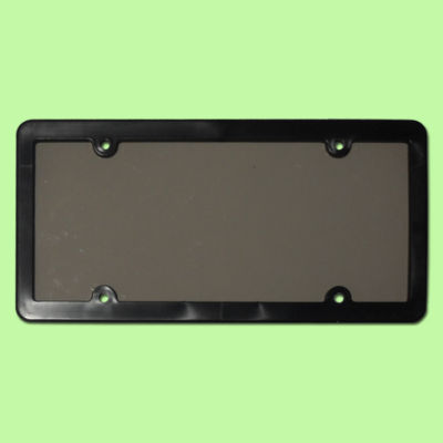 Tinted Plastic License Plate Shieldframe Cover Tag Protector Smoke Dark Black