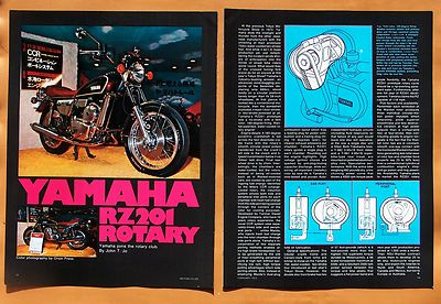 0312 1973 Yamaha Rz201 Rotary Engine Motorcycle Article