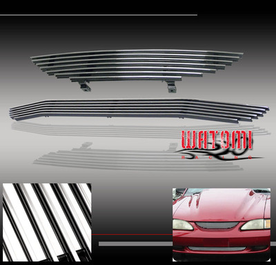 9498 Ford Mustang Billet Grille Upperbumper Combo 2pc