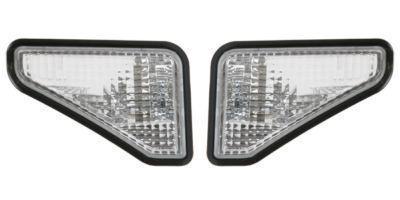 0208 Honda Element Clear Bumper Fender Side Marker Lights W/ Black Trim Pair