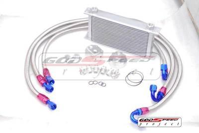 Universal 19 Row Oil Cooler Kit Turbo /Na Wrx Sti Ej20 Ej25 Gc8 Gdb Gda Gc Gh8