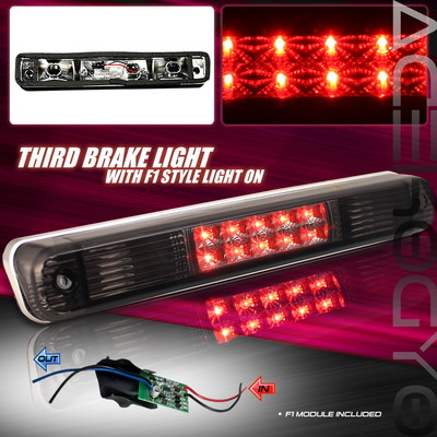 Euro Smoke Flashing Led Style F1 Racing Rear Third Brake Light Assembly Set