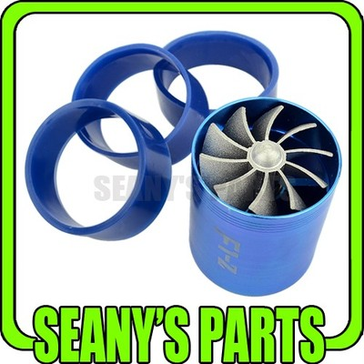 Universal F1z Supercharger Turbo Air Intake Fuel Saver Eco Fan Dual Propeller