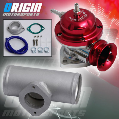 Red Type Rs Billet Turbo Blow Off Valve Bov 2.5″ Flange Pipe Tube Adapter