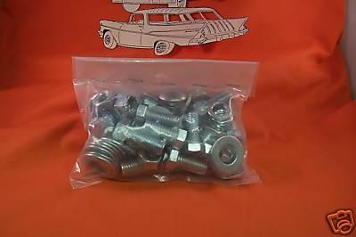 1957 Chevy Belair Front Bumper Mounting Bolt Chrome Kit Sedan Wagon Hardtop Noma