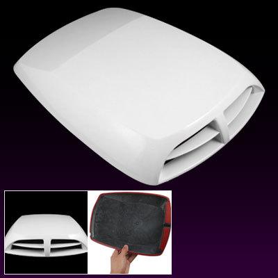 Car Vehicle Air Flow Vent Plastic Hood Scoop Decor Wht
