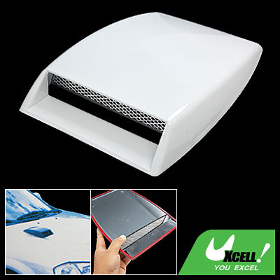 Universal Car Plastic Hood Scoop Air Flow Vent White