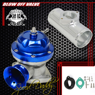 Universal Billet Anodized Typers Turbo Blow Off Valve Bov2.5″ Flange Pipe Blue