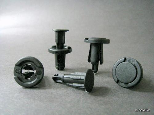 #Sat Elk066 Car Panel Bumper Trim Clip Pushtyped Pin Ainer Black 30 Sets